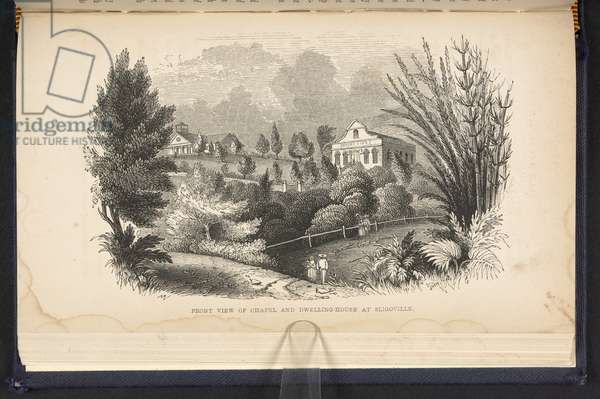 Front View Of Chapel And Dwelling House At Sligoville (engraving)