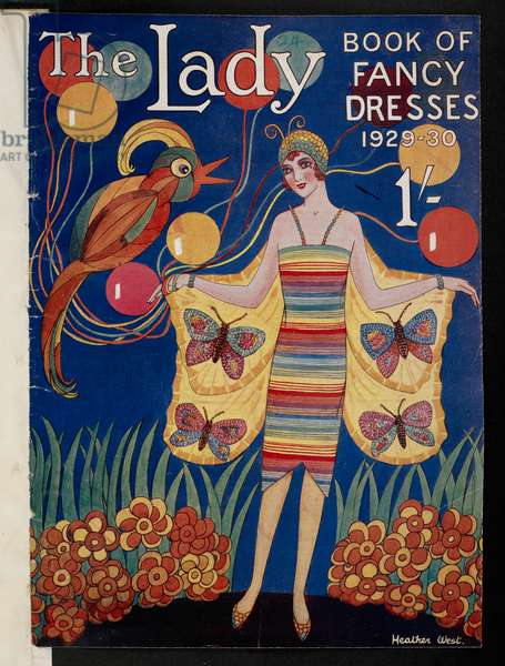 Front cover, from 'The Lady Book of Fancy Dresses', 1929-30 (colour litho)