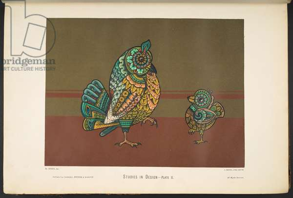 Plate ii, from Studies in Design. [60 coloured plates.], 1874-76 (colour litho)