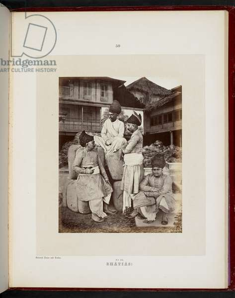 The Dheds of Gujarat, Bombay, 1856-60 (b/w photo)