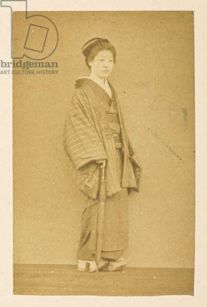 O'Wacka San [Portraits of Japanese women],  Photographer: Unknown Dimensions: 83 mm x 53 mm Lucas Collection: Photographic record of the world tour of Charles James and Morton P,  Lucas, 1877-79,