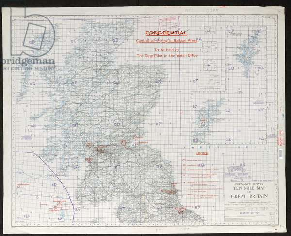 OS ten mile map of Great Britain - Military edition, GSGS 3993, Notes:  In two sheets,  Used as base map for various overprints,  Physical Description:  maps, ; Scale 1:633 600,  1938