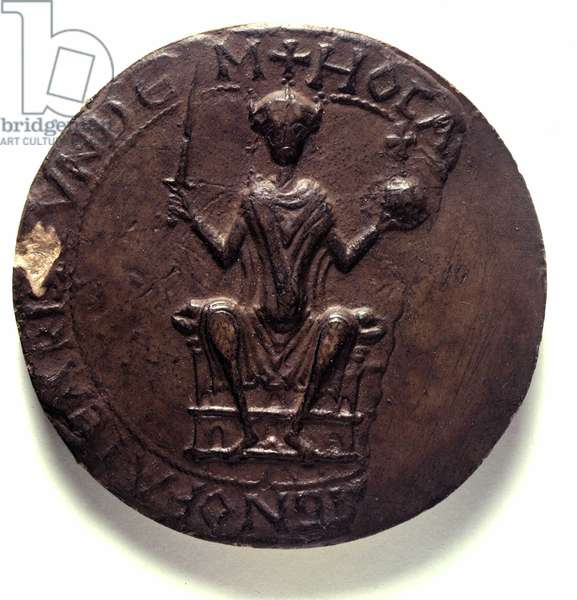 Second sceau de Guillaume Ier  le Conquerant (1028-1087) Second Seal of William I, 1069. (Obverse). ©The British Library Board/Leemage