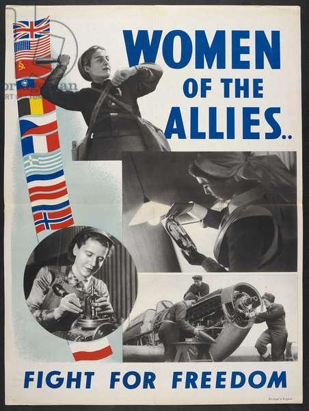 Women of the allies.. fight for freedom (colour litho)