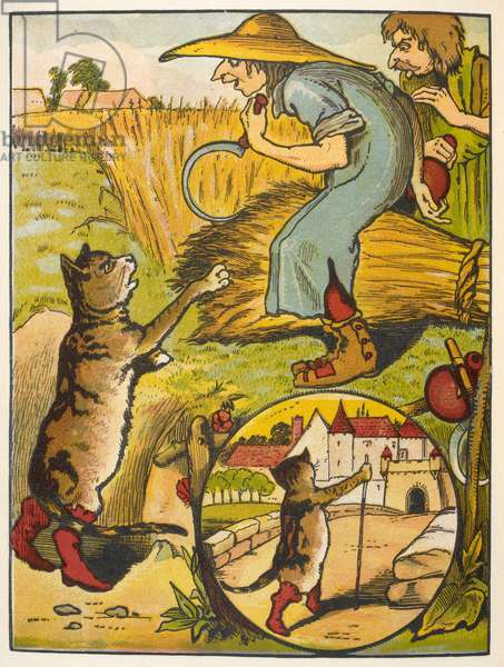 Puss in boots and farm workers.