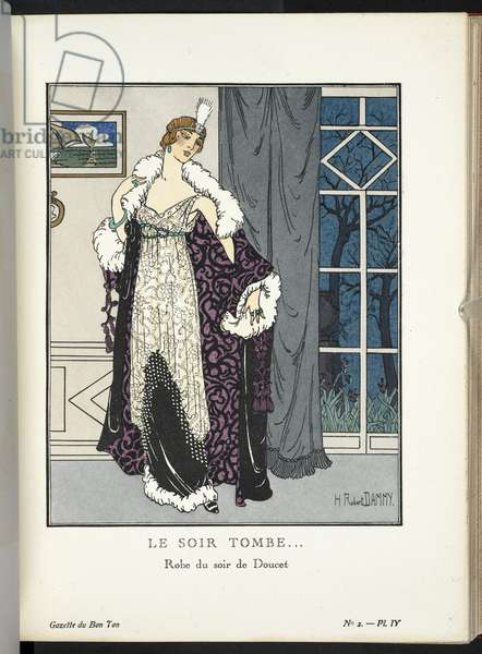 COPYRIGHT?  H. Robert Dammy (French, born around 1890), Illustrating design by Jacques Doucet (French, 1853-1929),