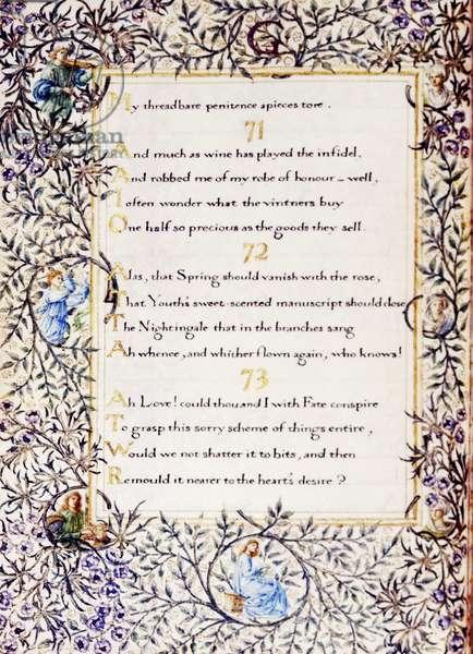 Add 37832 fol.11v Decorated translation of 'The Rubaiyat of Omar Khayyam', 1872 (vellum)