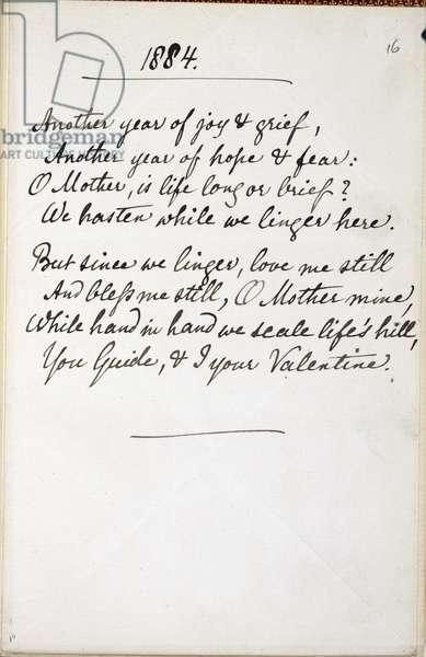 Poem of Christina Rossetti