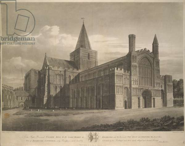 North West view of Rochester Cathedral