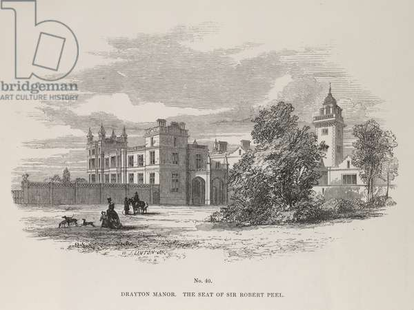 Drayton Manor. The seat of Sir Robert Peel
