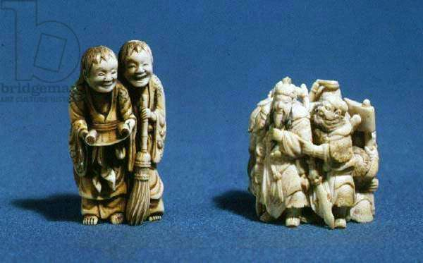Netsuke showing Okame, Japanese, 19th century