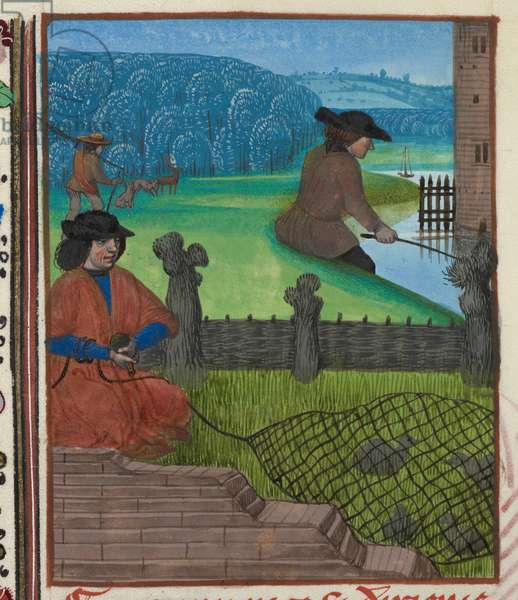 (Miniature) Fishing, fowling, and other sports.
