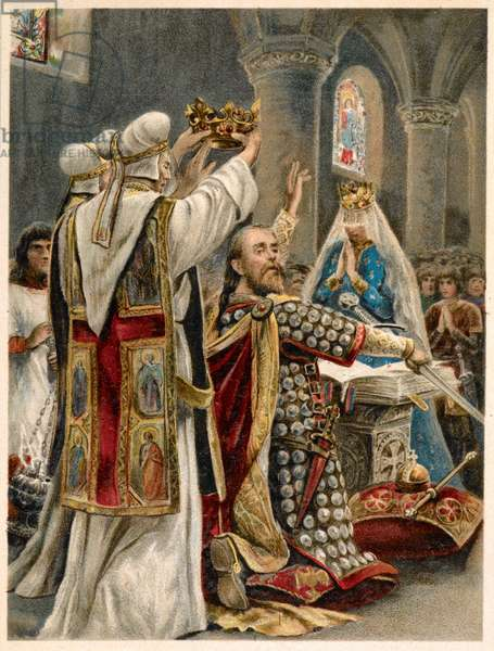 'The taking of the oath by Edward the Confessor'.