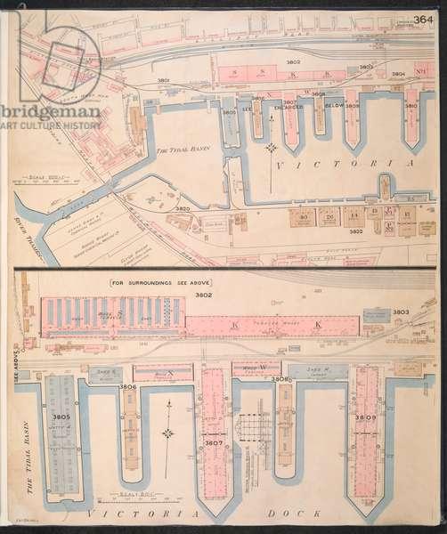 Insurance Plan of London Vol. XII: sheet 364-2, 1891 (coloured engraving)
