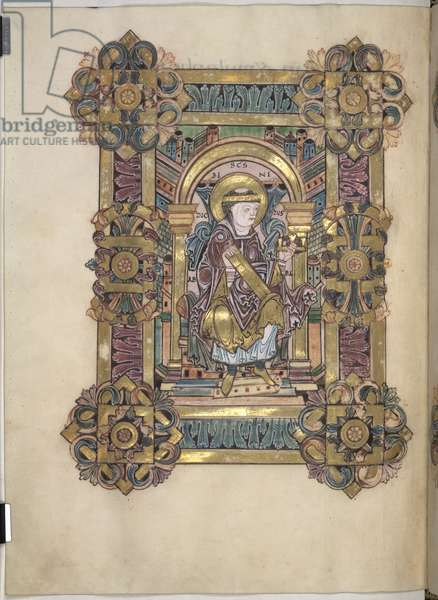 Add 49598 f.99v Title page, from the Benedictional of St. Aethelwold, Winchester, c.980 (vellum)