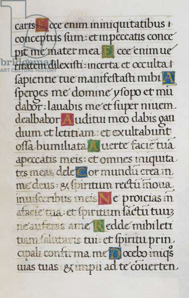 Text page; Psalm 50