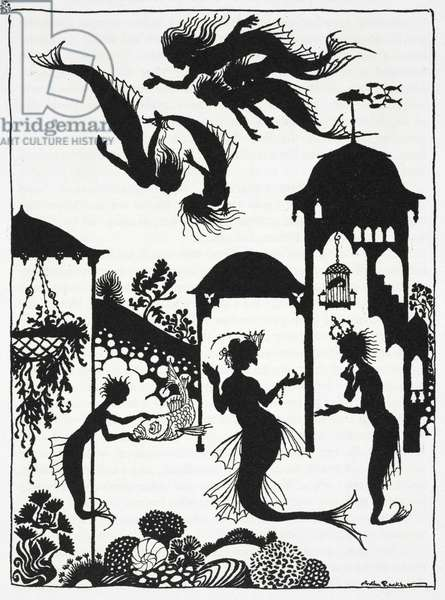 Illustration for 'The Little Mermaid', by Hans Christian Andersen (litho)