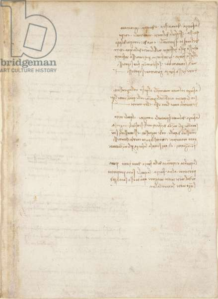 Arundel 263, f.151, Leonardo da Vinci's notes from 'Codex Arundel' (pen & ink on paper)