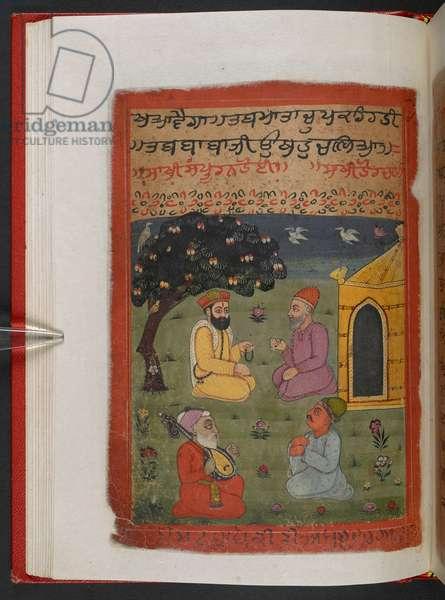 MS Panj B 40, f.33v, illustration from the 'Biography of Guru Nanak', 1733 (vellum)