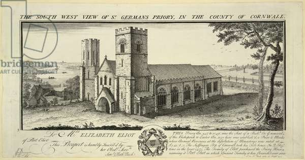 St. Germans Priory, 1734 (engraving)