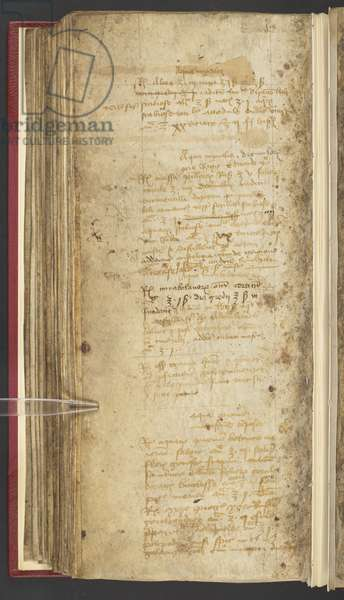 Harley 1628, Apothecary Book with prescription for Edward IV, c.1483 (vellum)