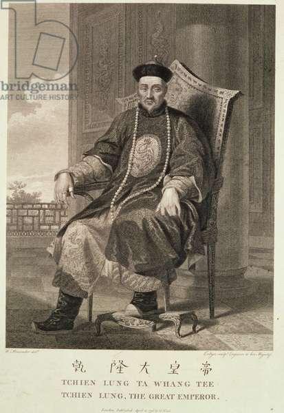 The Emperor Chien-Lung, 1796 (engraving)