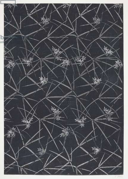 Japanese Floral Design, illustration from 'The Olga Hirsch collection of decorated papers' (woodblock print)