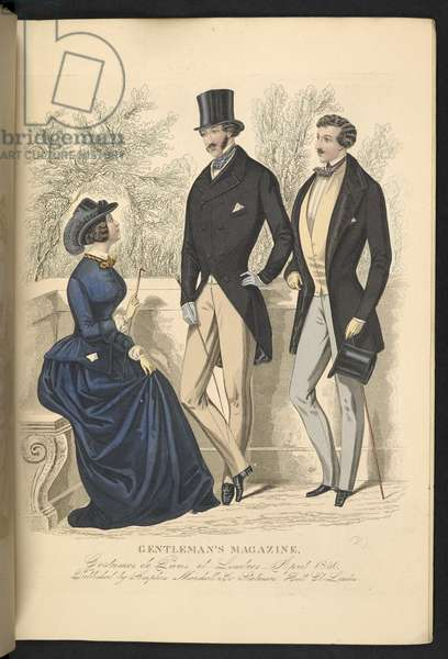 Costumes de Paris et Londres. April 1850. Plate 11.The Gentleman's Magazine of Fashion, Fancy Costumes, and the Regimentals of the Army.London, England : 1828