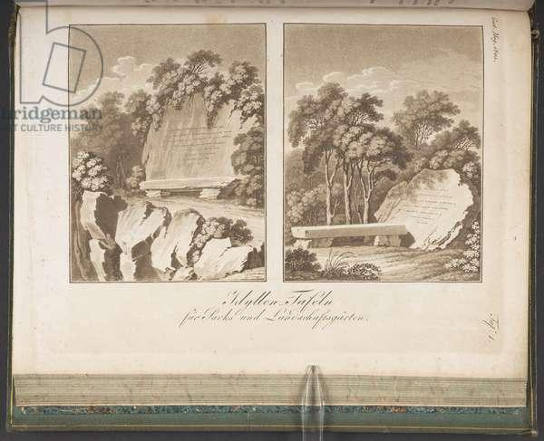 Idyllen Tafeln, from Allgemeines Teutsches Garten-Magazin 2 (1805), plate 1 (engraving)