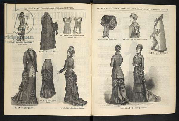 Various costumes.Weldon's Illustrated Dressmaker : (Weldon's Illustrated Dressmaker and Milliner.).1880