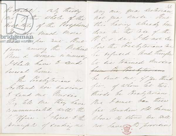 Letter of Florence Nightingale