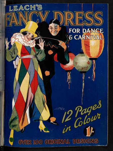 Front cover of 'Leach's fancy dress for dance and carnival', 1923 (colour litho)