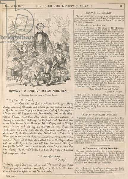 Homage to Hans Christian Andersen