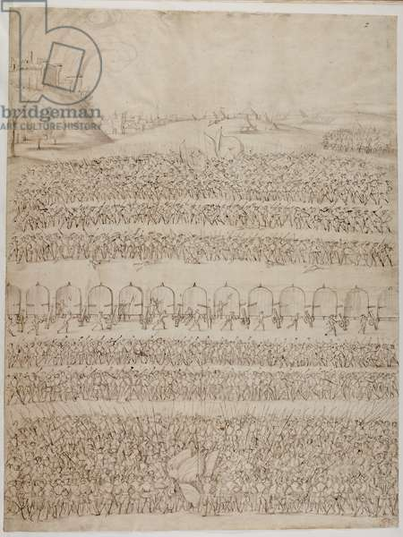 Cotton Augustus III, f.2 King Henry VIII's Army, c.1538-45 (ink on paper)