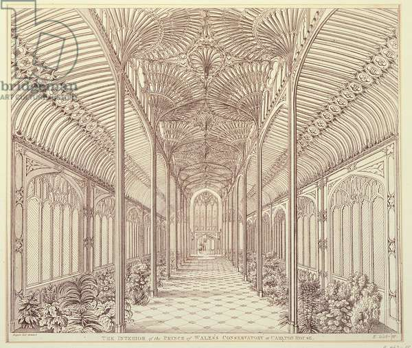 Carlton House: interior of the Prince of Wales' Conservatory with a fountain by Hopper Junior (photo)