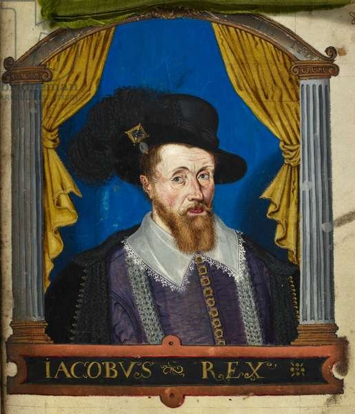 James I, of England from 1603. James VI of Scotland from 1567.