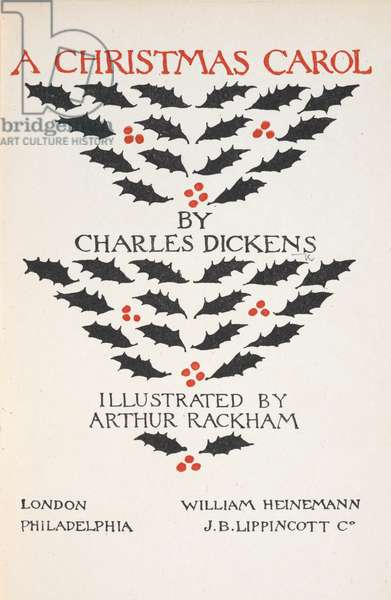 Title page illustrated with holly leaves and berries