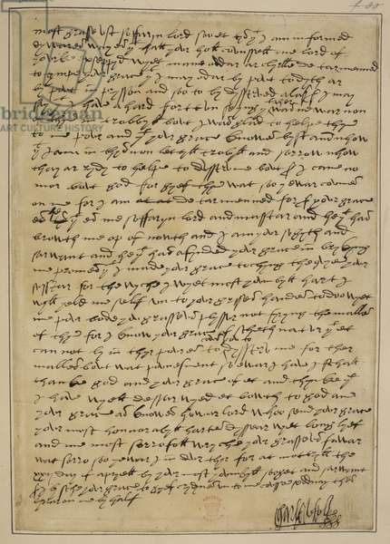 Letter from Charles Brandon to Henry VIII