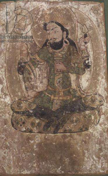 Roustem, the God of Silk, Chinese Turkestan, 6th-7th century BC (painting on wood panel)