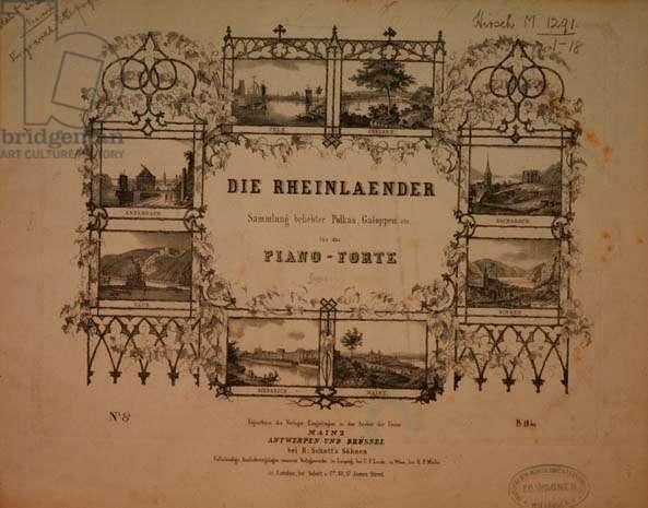 """""""Die Rheinlaender"""" title page"""