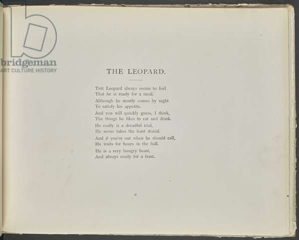 Poem: The leopard.