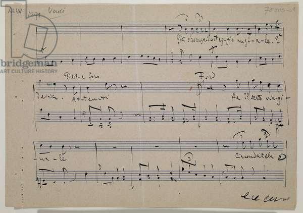 'Falstaff', opera in three acts (libretto Arrigo Boito), 1894 (ink on paper)