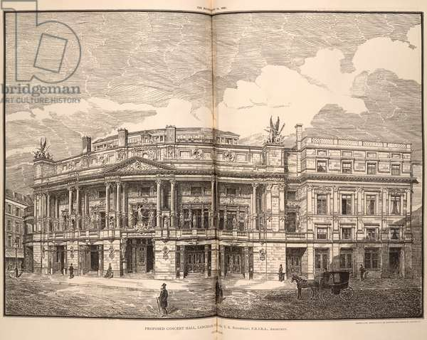 Proposed concert hall (Queen's Hall) , Langham Place.