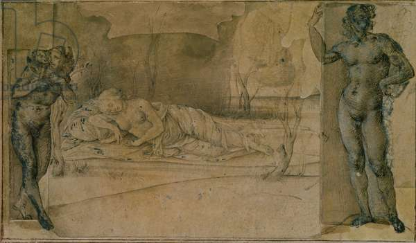 Ariadne Deserted (pencil)