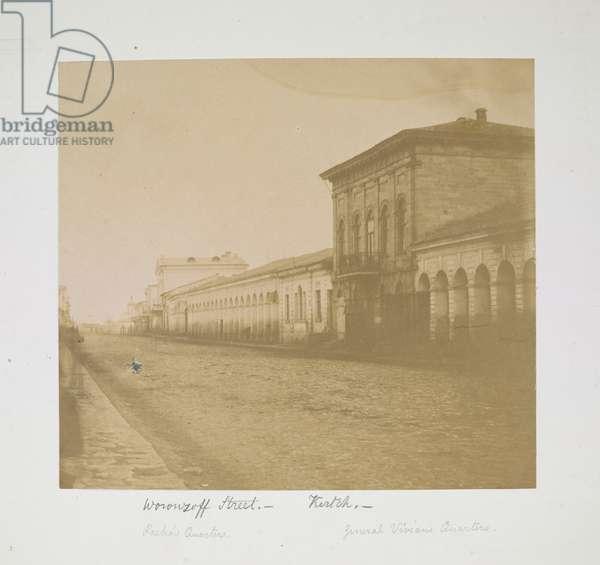 Woronzoff Street, Kertch, c.1855-56 (b/w photo)