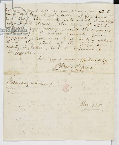 Letter from Charles Dickens to Catherine Hogarth, May 1835.
