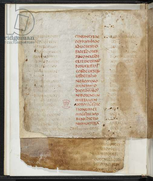 Add. 40165a, f.3v, 4th Century Cyprian letters brought by Hadrian (vellum)