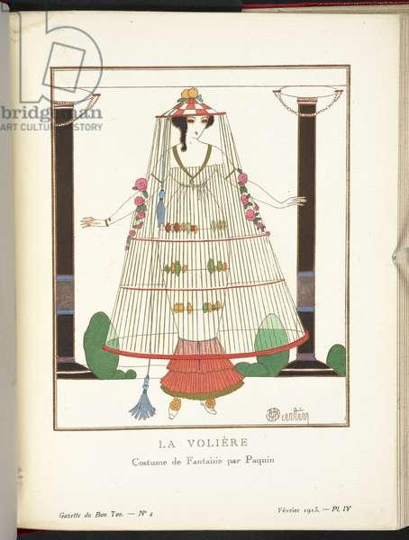 """""""La Volière - Costume de Fantaisie par Paquin."""""""