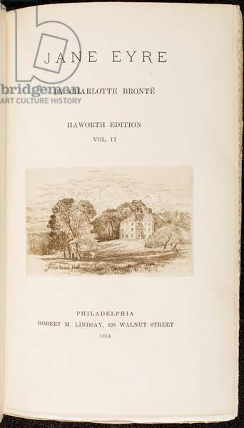 Title Page from 'Jane Eyre' by Charlotte Bronte (litho)