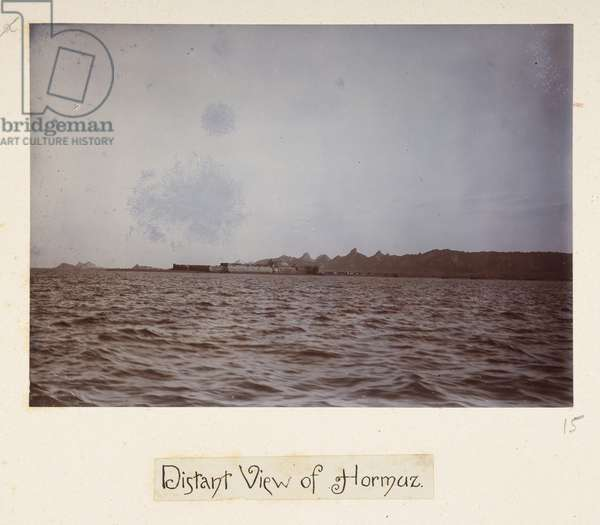 Distant view of Hormaz, from 'Photographs of Lord Curzon's tour in the Persian Gulf, November, 1903' (silver gelatin print)